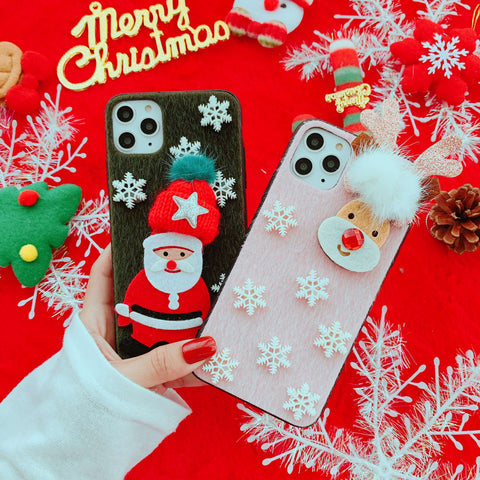 Multiple Christmas Elements Decorate iPhone Case