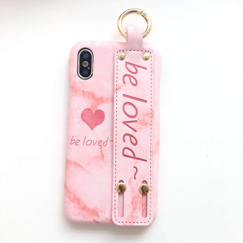 Heart Shape Band iPhone Case With Phone Holder