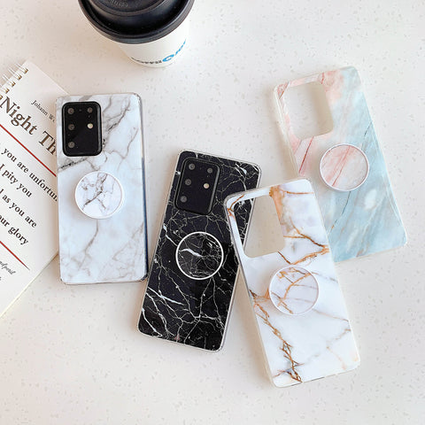 Smooth Marble Crack Detail Phone Case with Phone Holder gallery 6