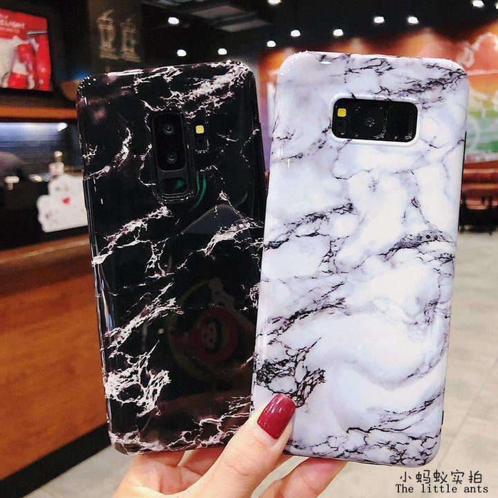 Anti-Fall Black&White Marble Phone Case for Samsung gallery 14
