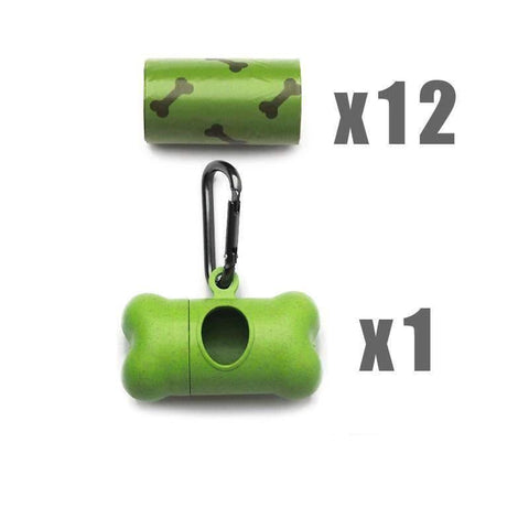 Pet Puppy Use Poop Dispenser Green Bone Shaped With Degradable Bags gallery 3