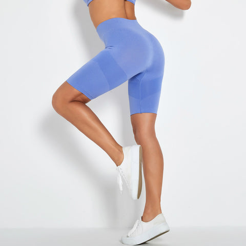 Contrast Panel Butt Lifting Sports Shorts gallery 1