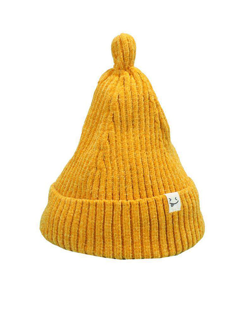 Smile Face Stitch Knit Beanie Hat gallery 10