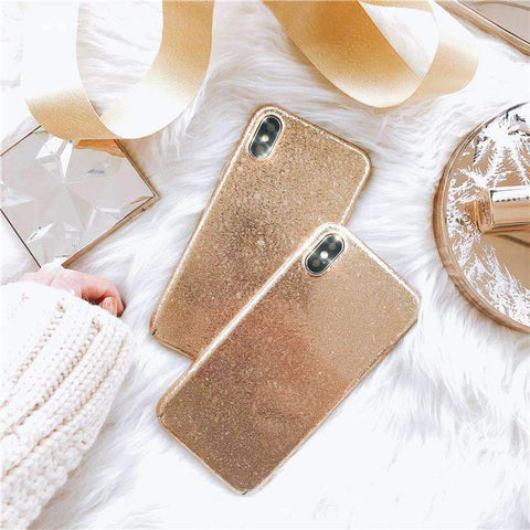 Golden Glitter iPhone Case