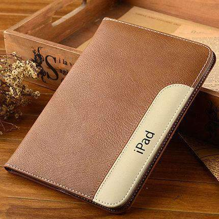 Anti-Fall Leather Apple iPad Cover Case gallery 3