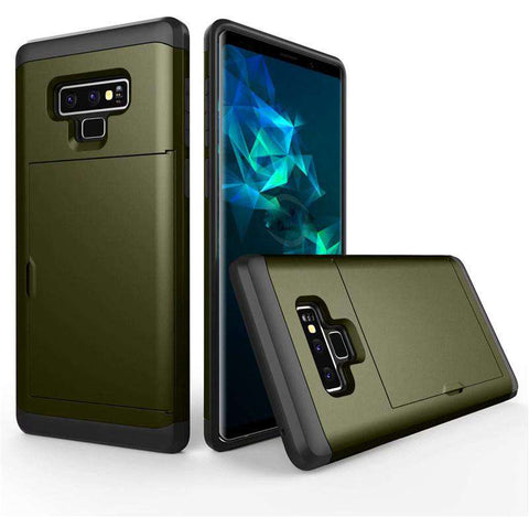 Samsung Galaxy Note 9 Pure Color Creative Phone Case With Card Holder gallery 8