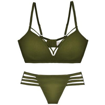 Sexy Cut-Out Wireless Lingerie Set
