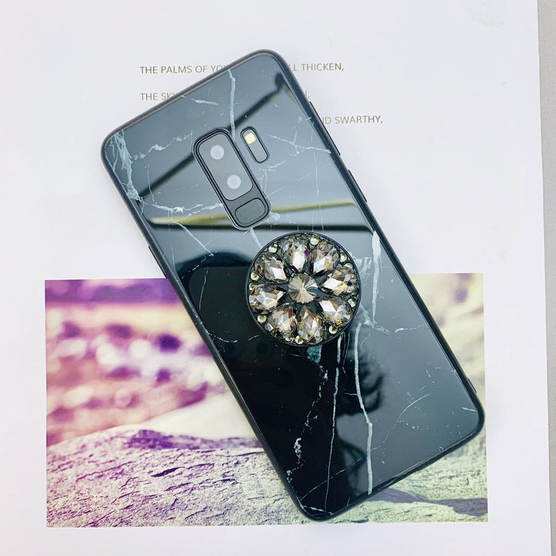 Creative Marble Phone Case for Samsung with Phone Holder