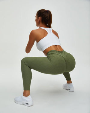 High Waist Butt Lifting Seamless Textured Leggings