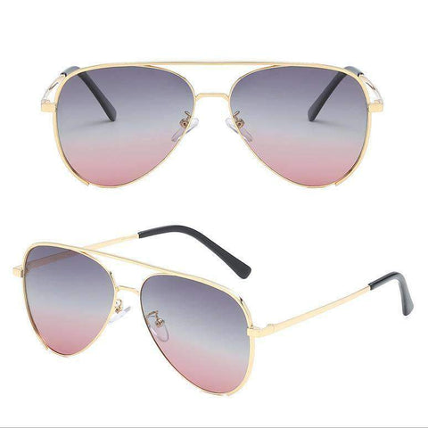 Double Layer Frame Aviator Sunglasses gallery 7