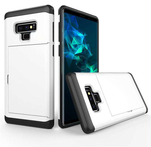 Samsung Galaxy Note 9 Pure Color Creative Phone Case With Card Holder gallery 7