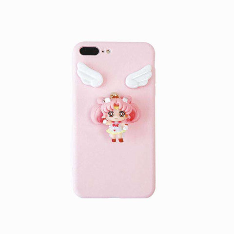 Solid Color Samsung Case with Lovable 3D Girl gallery 3