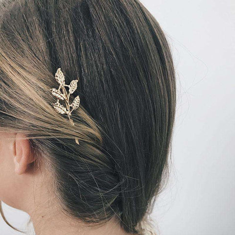 Gold Simple Flower Hair Pin gallery 3