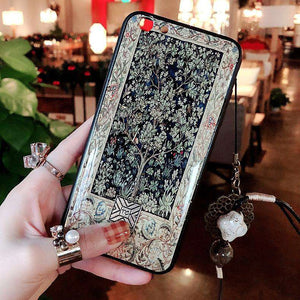 Vintage Chinese Style Epoxy Gold Foil iPhone Case