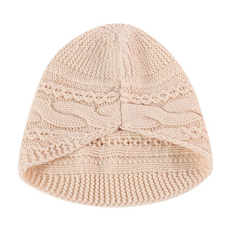 Solid Cable Knit Wool Beanie Hat gallery 4