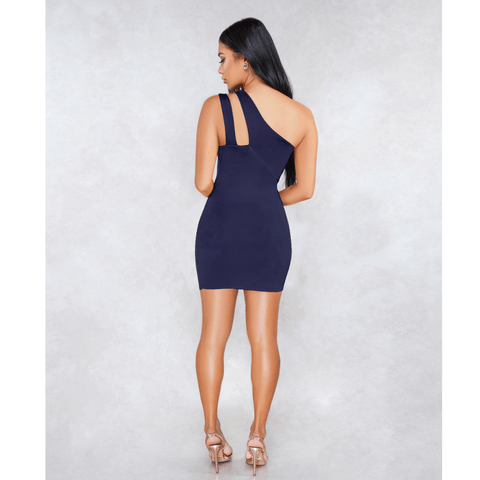 Sexy One Shoulder Bust Cut Out Bodycon Dress gallery 13