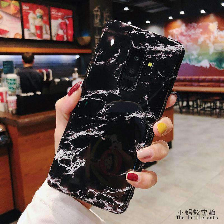 Anti-Fall Black&White Marble Phone Case for Samsung gallery 7