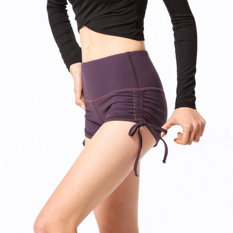 Ruched Drawstring Detail Butt Lifting Active Shorts gallery 5