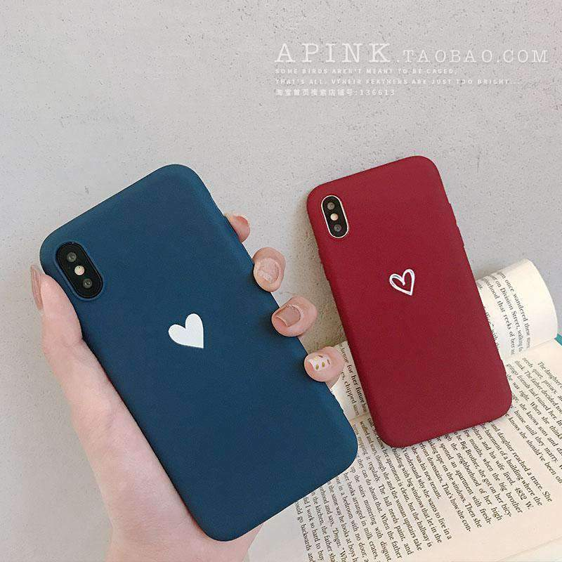 Heart Shape Matte iPhone Case