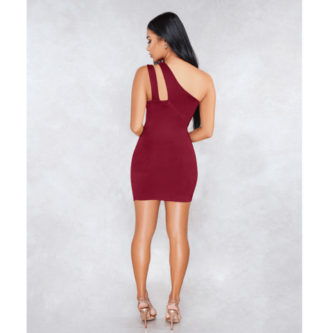 Sexy One Shoulder Bust Cut Out Bodycon Dress gallery 3