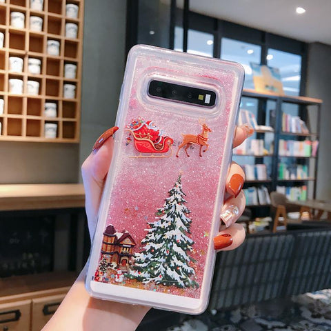 Beauty Christmas Tree and Santa Claus Pattern Samsung Case