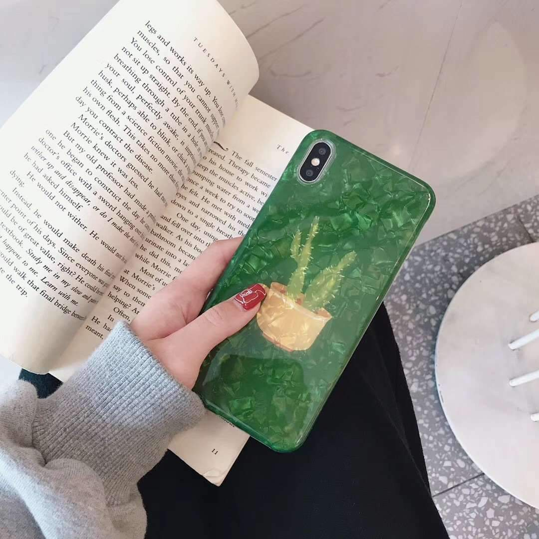 Fresh Potted Plant Shell Texture iPhone Case