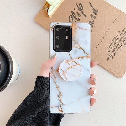 Smooth Marble Crack Detail Phone Case with Phone Holder gallery 11