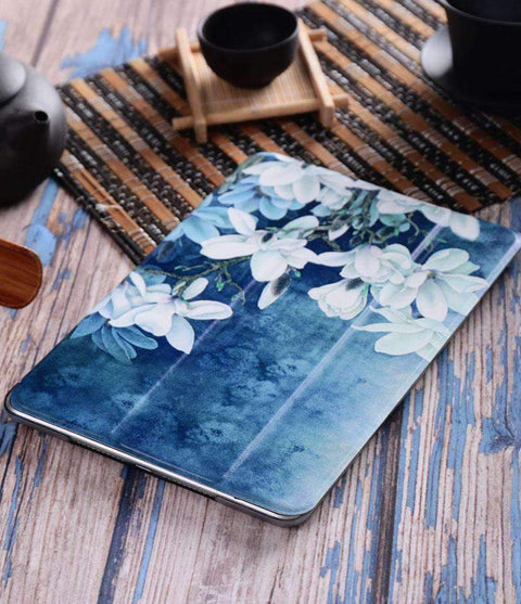 Contracted Literary Orchid Painted Apple iPad Cover Case gallery 3