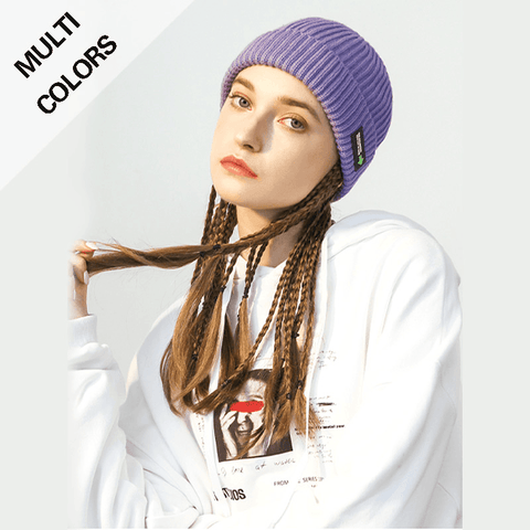6 Colors Rib Knit Cuffed Beanie Hat With Tag gallery 1