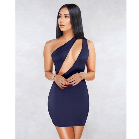 Sexy One Shoulder Bust Cut Out Bodycon Dress gallery 12