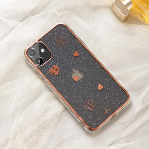 Cute Electroplate Heart/Diamond Pattern Phone Case for Samsung gallery 3
