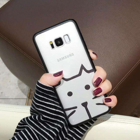 Samsung Frosted Cartoon Print Phone Case gallery 4