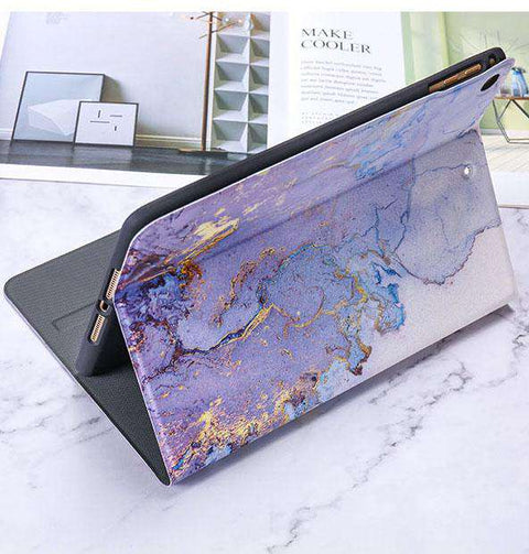 Literary Marble Pattern Magnetic Flip Apple iPad Cover gallery 2