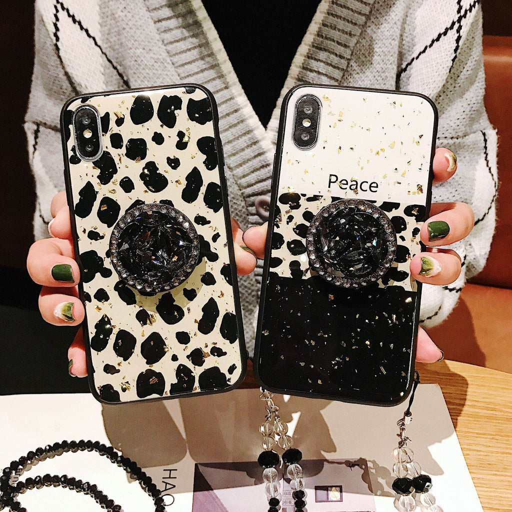 Luxury Leopard Phone Case for Samsung with Stand