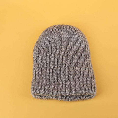 Candy Color Hand-knitted Simple and Thickened Hat gallery 7