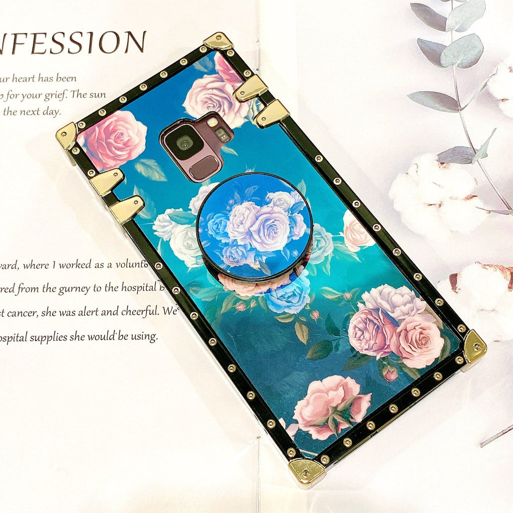 Floral Printed Phone Case for Samsung with Phone Holder