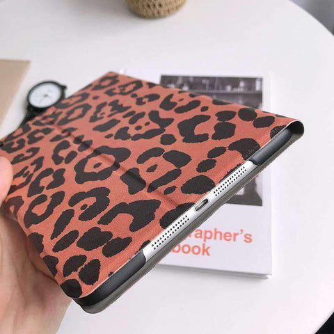 Chic Leopard Printed Apple iPad Cover Case gallery 3