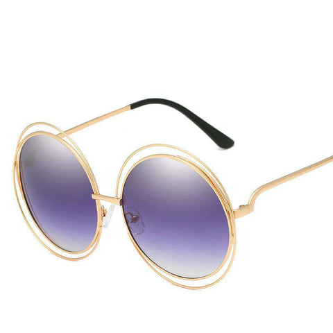 Ombre Double Frame Hollowed Sunglasses gallery 5