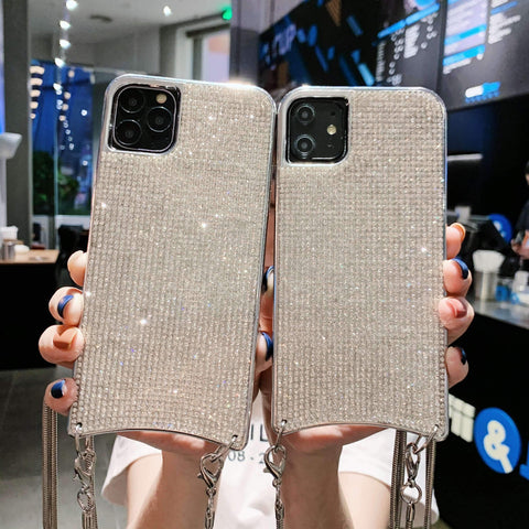 Sparkle All-Over Crystal Stud Phone Case for Samsung with Hand Strap gallery 1