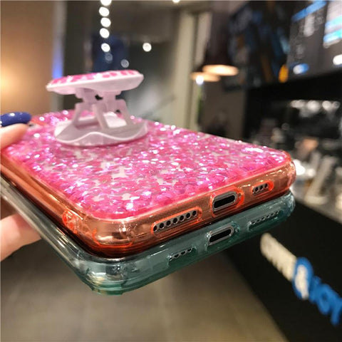 Four Colors Glittering Rhinestone Phone Case for Samsung with Phone Holder gallery 11