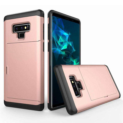 Samsung Galaxy Note 9 Pure Color Creative Phone Case With Card Holder gallery 5