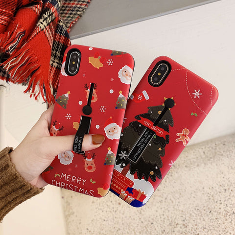 Sweet Christmas Elements Design iPhone Cases With Phone Stand