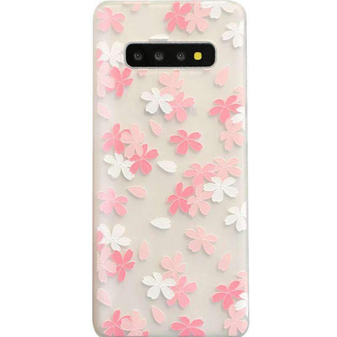 Frosted Literary Flower Painted Samsung Case gallery 4