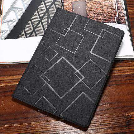 Contracted Square Pattern Apple iPad Cover Case