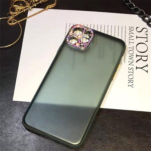 Luxury Rhinestone Frosted Clear Phone Case for Samsung gallery 7