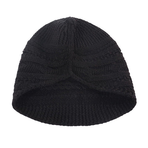 Solid Cable Knit Wool Beanie Hat gallery 2