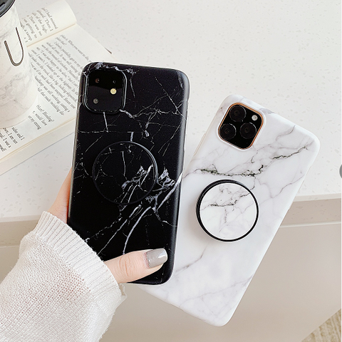 Marble Print Phone Case for Samsung with Phone Holder gallery 1
