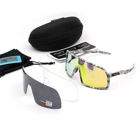 3 Pieces Set Polarized Lens Goggles For Cycling gallery 8