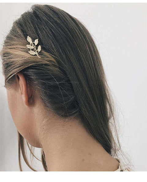 Gold Simple Flower Hair Pin gallery 8