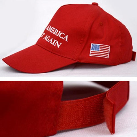 """Donald Trump Slogan """"Make America Great Again"""" Hat with Embroidered USA Flag gallery 2"""